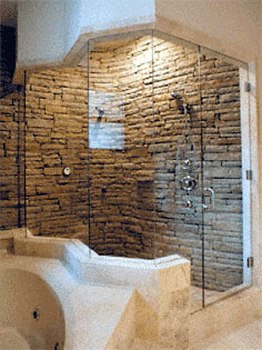 Custom designed showers in seattle puget sound cascade for Cool shower door ideas